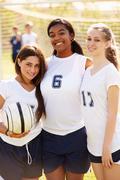 Members Of Female High School Soccer Team Kuvituskuvat