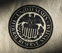 Stock Photo of United States Federal Reserve System symbol.