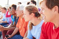 Audience Watching Outdoor Concert Performance Stock Photos
