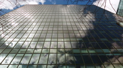 Sky scraper cloud reflections, time lapse - stock footage