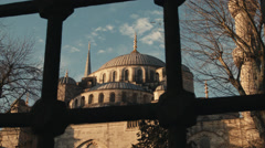 Shot Revealing Magnificent Blue Mosque ISTANBUL, TURKEY Stock Footage