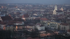 Vilnius Old Town at dawn time - stock footage
