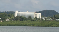 Large Hotel on the Island of PALAU Stock Footage