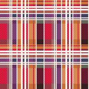Rectangular tartan seamless texture mainly in warm hues - stock illustration