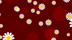 red abstract loop motion background, flower - stock footage