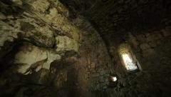 Old ruined Christian church in Abkhasia. 02 Stock Footage