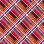 Rhombic tartan fabric seamless texture in warm colors Stock Illustration