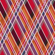 Rhombic tartan fabric seamless texture in warm hues - stock illustration