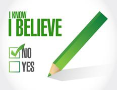 Stock Illustration of I Know I believe check mark sign