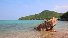 Tien Beach In Koh Larn Island Of Chonburi Thailand (pan shot) Stock Footage