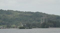 Japan-Palau Friendship Bridge, Island of Palau Stock Footage