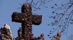 Christian Holy Symbol Cross Crucifix Stock Footage