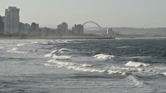 Durban Beach Front Stock Footage