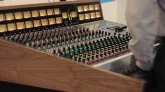 Stock Video Footage of Analog Audio Mixer