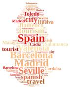 Visit Spain. Stock Illustration