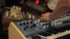 Analog Audio Synthesizer Stock Footage