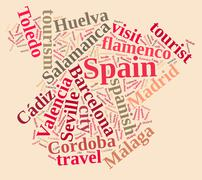 Visit Spain. - stock illustration