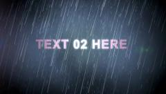 Rain StormTitle text for AE Stock After Effects