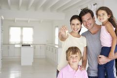 Stock Photo of Family in new home