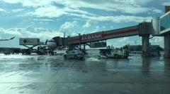 Istanbul Ataturk Airport, ISTANBUL, TURKEY Stock Footage