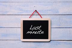 Last minute. - stock photo