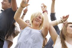 Young people at music festival Stock Photos