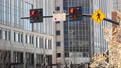 A crosswalk in downtown Salt Lake City Stock Footage