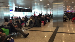 Terminal inside Istanbul Ataturk Airport, ISTANBUL, TURKEY Stock Footage