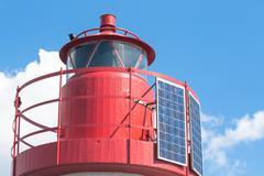 Particular of a sea headlight - stock photo