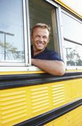 School bus driver Kuvituskuvat