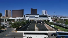 Las Vegas Monorail Approaches Station Stock Footage