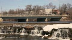 Waterfalls in winter Stock Footage