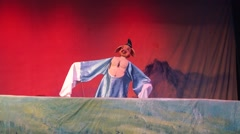 Chinese puppet in the show Stock Footage