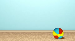 Kids room. ball Stop-motion animation. Stock Footage