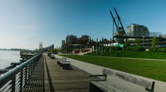 Westminster Pier Park Stock Footage