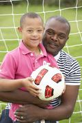 Father with Downs Syndrome son Stock Photos