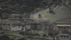 Stock Video Footage of A remote ancient Tibetan village in Tibet China-1