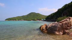 Tien Beach In Koh Larn Island Of Chonburi Thailand Stock Footage