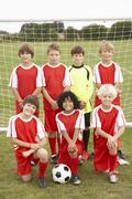 Stock Photo of Junior football team portrait