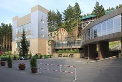 Sanatorium Russia in the resort Belokuriha - stock photo