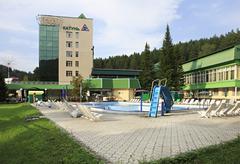 Sanatorium Katun in resort Belokurikha - stock photo