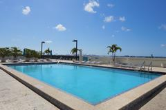 Condominium swimming pool - stock photo