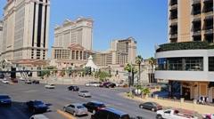Caesars Palace Casino Establishing Shot Stock Footage