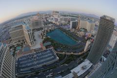 Las Vegas Aerial Fisheye Establishing Shot Stock Photos