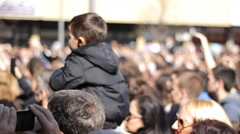 Kids Audience Fans in Day concert enjoy in music ,relaxing in free time - stock footage