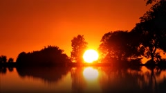 Ambient sunrise reflections Stock Footage