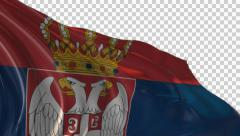 Flag of Serbia Stock Footage