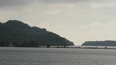 Rock Islands connected by a Bridge- PALAU Stock Footage