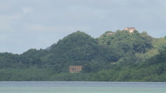 Hilltop Mansion on the Rock Islands of Palau Stock Footage