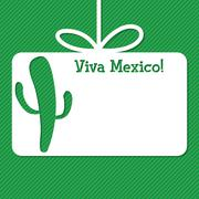 Cactus cut out tag card in vector format. - stock illustration
